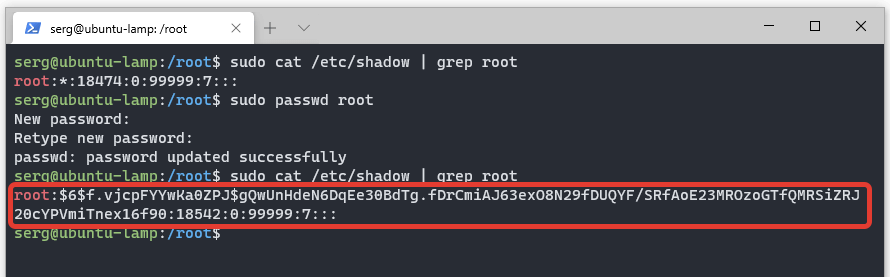 Учётная запись root